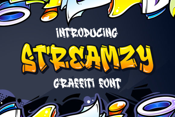 Print on Demand: Streamzy Display Font By Blankids Studio - Image 1