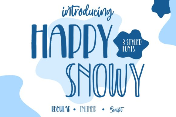 Print on Demand: Happy Snowy Script & Handwritten Font By goodjavastudio