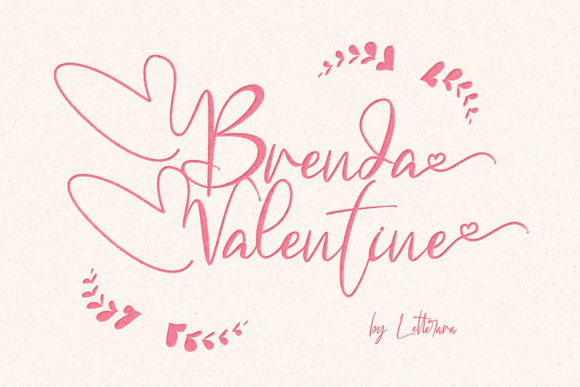 Print on Demand: Brenda Valentine Script & Handwritten Font By thomasaradea
