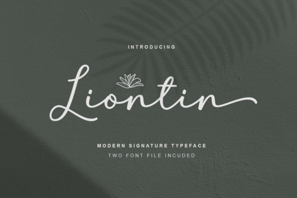 Print on Demand: Liontin Script & Handwritten Font By fargunstudio