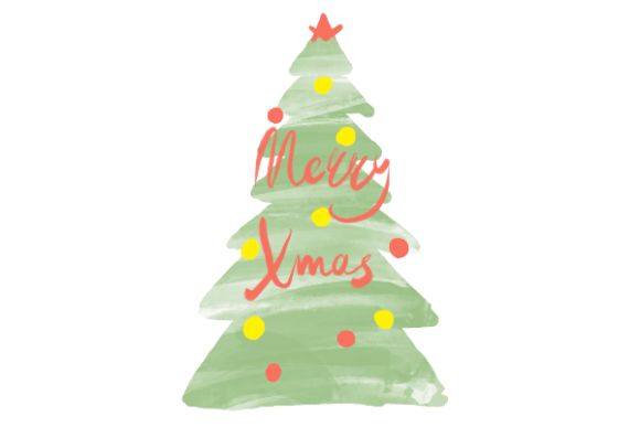 Download Free Merry Xmas Graphic By Etewut Creative Fabrica for Cricut Explore, Silhouette and other cutting machines.