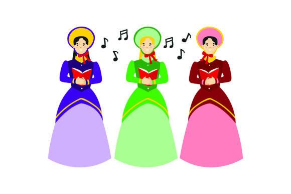 Christmas Carolers Christmas Craft Cut File By Creative Fabrica Crafts