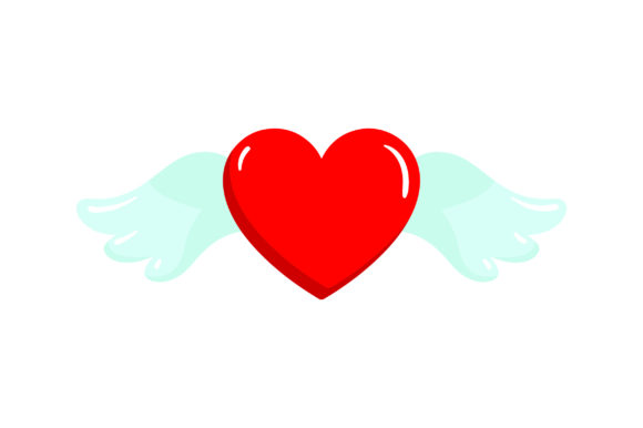 Download Free Heart With Wings Svg Cut File By Creative Fabrica Crafts for Cricut Explore, Silhouette and other cutting machines.