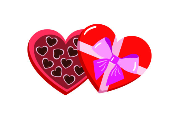 Download Free Valentine Heart Box Of Chocolates Svg Cut File By Creative for Cricut Explore, Silhouette and other cutting machines.
