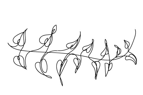 Download Free Vine With Leaves In Line Art Style Svg Cut File By Creative for Cricut Explore, Silhouette and other cutting machines.
