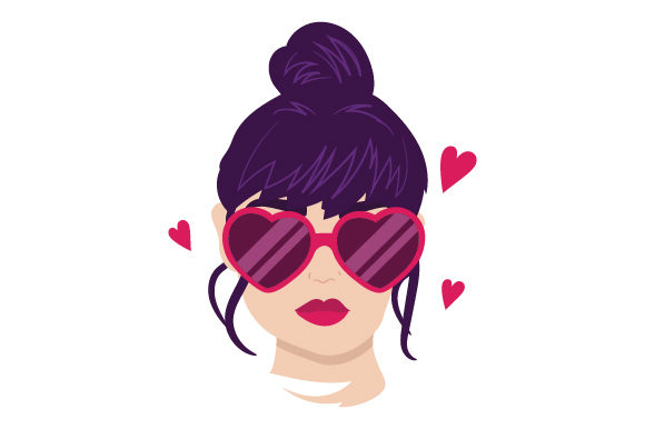 Download Free Woman With Heart Shaped Glasses Svg Cut File By Creative Fabrica for Cricut Explore, Silhouette and other cutting machines.