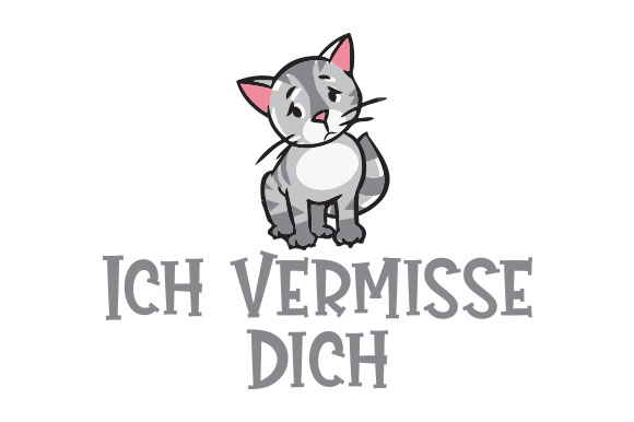 Download Free Ich Vermisse Dich Svg Cut File By Creative Fabrica Crafts for Cricut Explore, Silhouette and other cutting machines.