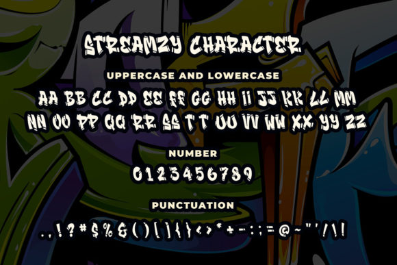 Print on Demand: Streamzy Display Font By Blankids Studio - Image 5