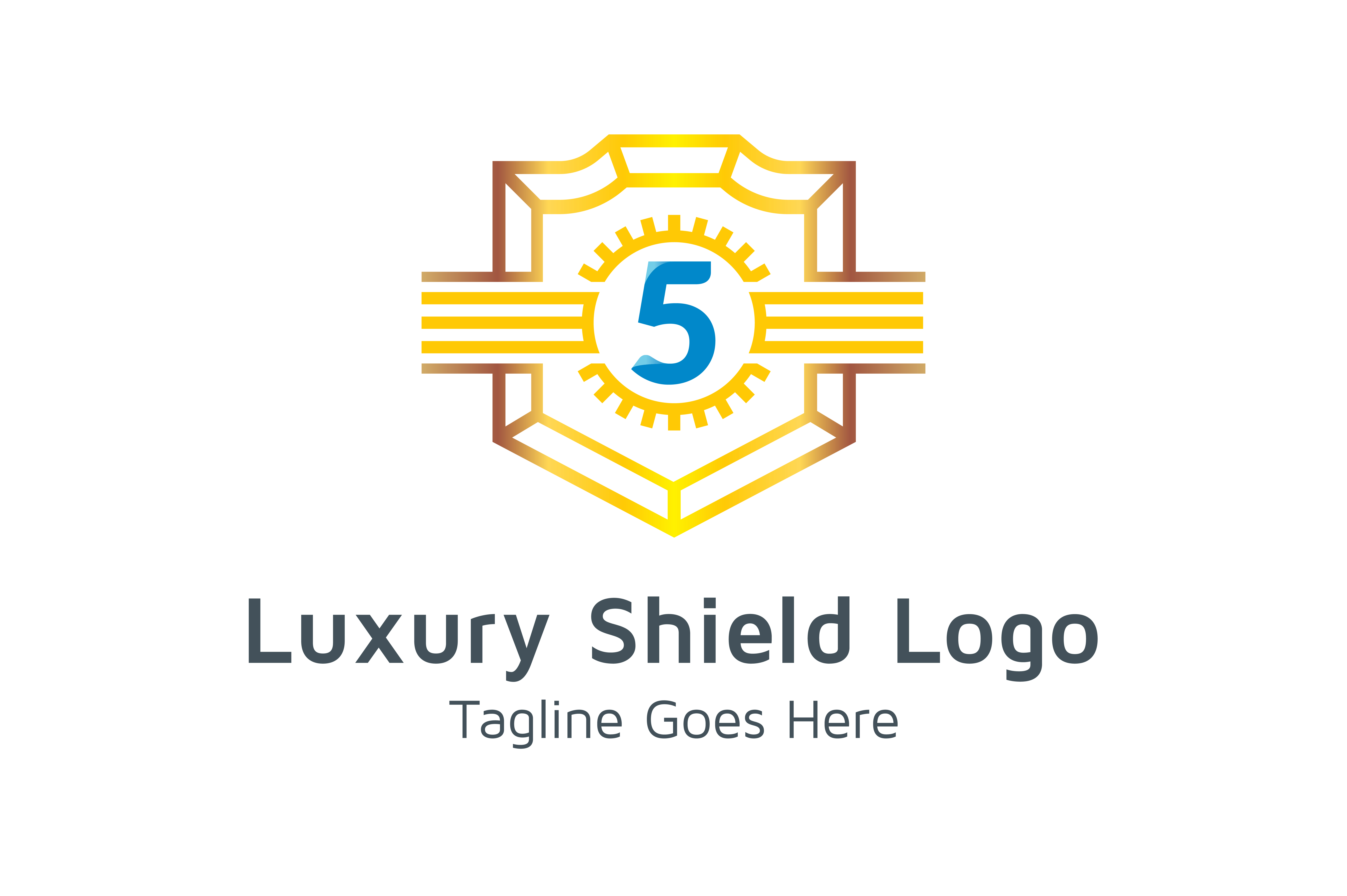 Download Free Luxury Shield Logo Number 5 Graphic By Thehero Creative Fabrica for Cricut Explore, Silhouette and other cutting machines.