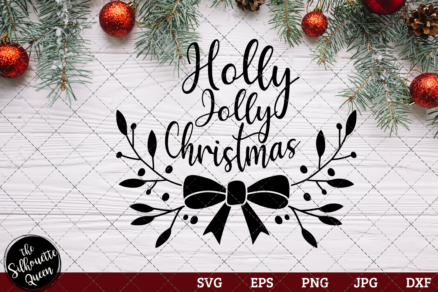 Holly Jolly Christmas Graphic By Thesilhouettequeenshop