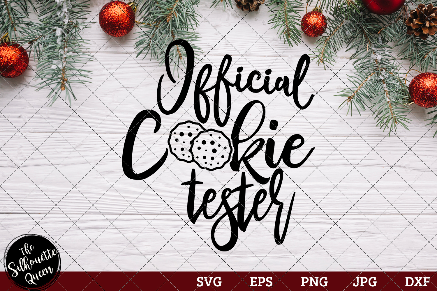 Download Free Official Cookie Tester Saying Graphic By Thesilhouettequeenshop for Cricut Explore, Silhouette and other cutting machines.