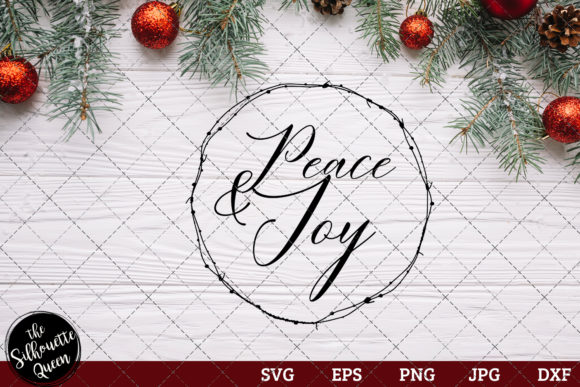 Peace and Joy Saying Graphic Crafts By thesilhouettequeenshop
