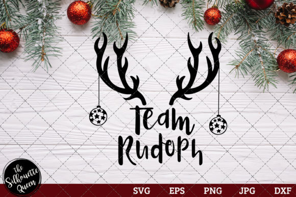 Team Rudolph Saying Graphic Crafts By thesilhouettequeenshop