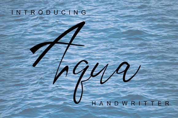Print on Demand: Aqua Script & Handwritten Font By andreyfontdesign