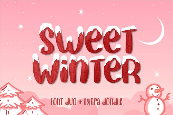 Print on Demand: Sweet Winter Display Font By Yumna_Type - Image 1