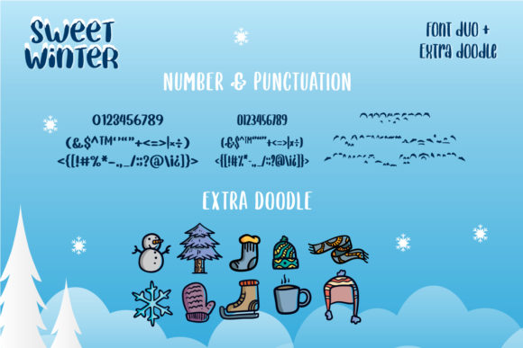 Print on Demand: Sweet Winter Display Font By Yumna_Type - Image 10
