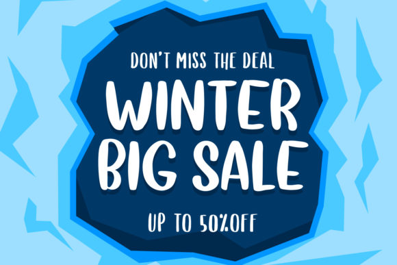 Print on Demand: Sweet Winter Display Font By Yumna_Type - Image 4