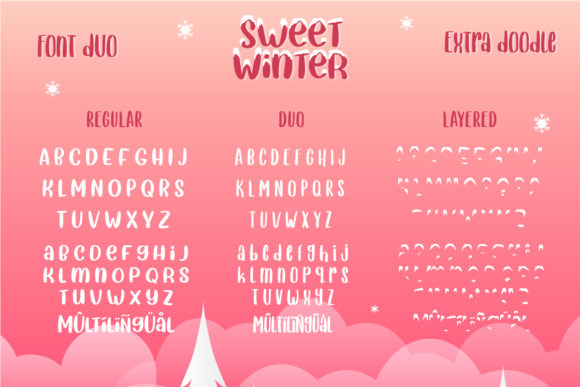 Print on Demand: Sweet Winter Display Font By Yumna_Type - Image 9