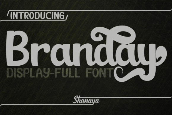 Print on Demand: Branday Script & Handwritten Font By Shanaya Creative