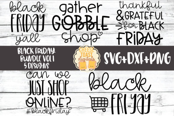 Black Friday SVG Bundle Vol 1 Gráfico Crafts Por CheeseToastDigitals