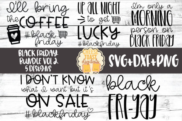 Download Free Black Friday Svg Bundle Vol 2 Graphic By Cheesetoastdigitals for Cricut Explore, Silhouette and other cutting machines.