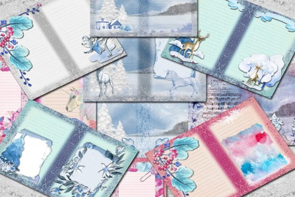 Pastel Winter Graphic Backgrounds By AHDesign