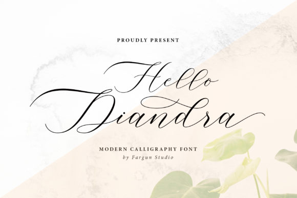 Print on Demand: Hello Diandra Script & Handwritten Font By fargunstudio
