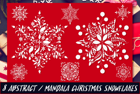Christmas Mandala Snowflakes Graphic Crafts By Craft-N-Cuts