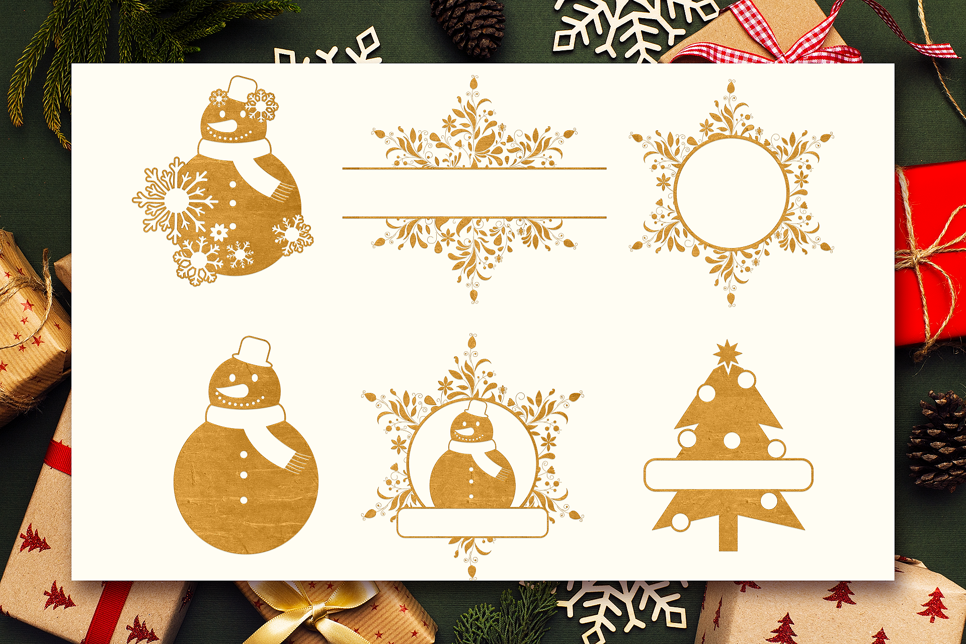 Download Free Christmas Monograms Pack Graphic By Craft N Cuts Creative Fabrica for Cricut Explore, Silhouette and other cutting machines.
