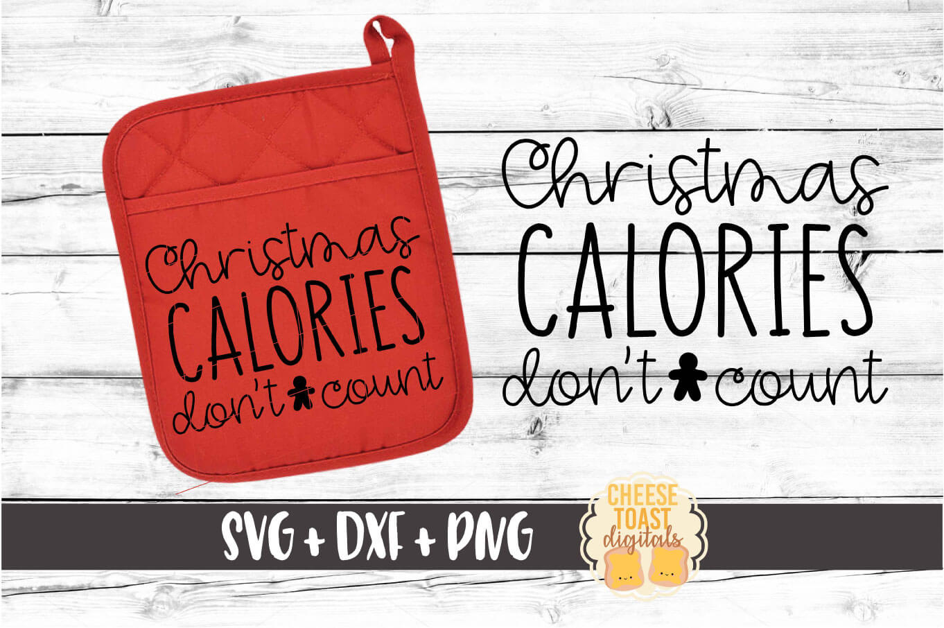 Download Free Christmas Calories Don T Count Grafik Von Cheesetoastdigitals for Cricut Explore, Silhouette and other cutting machines.