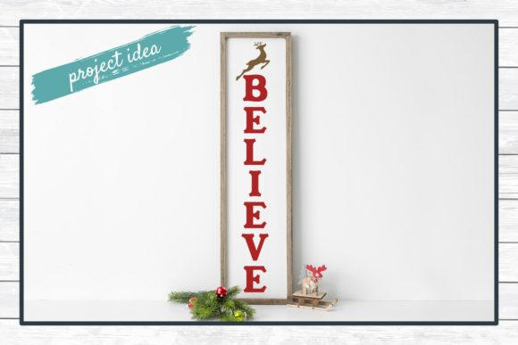 Believe Porch Sign Holiday Design Graphic Download