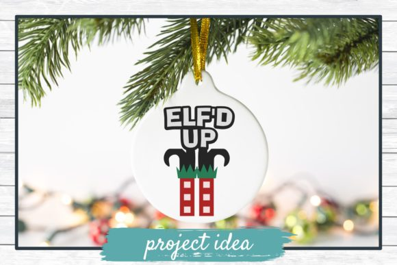 Download Free Elf D Up Christmas Holiday Graphic By Funkyfrogcreativedesigns for Cricut Explore, Silhouette and other cutting machines.