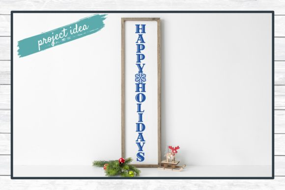 Happy Holidays Porch Sign Design Graphic Download