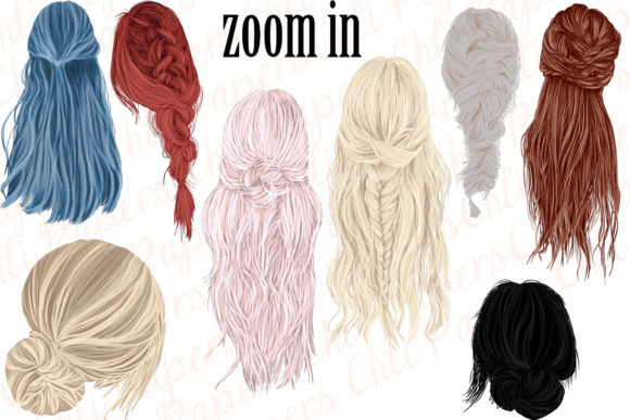 Custom Hairstyles Clipart Hair Clipart Graphic Illustrations By ChiliPapers - Image 2