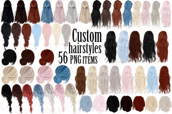 Custom Hairstyles Clipart Hair Clipart Graphic Illustrations By ChiliPapers - Image 1