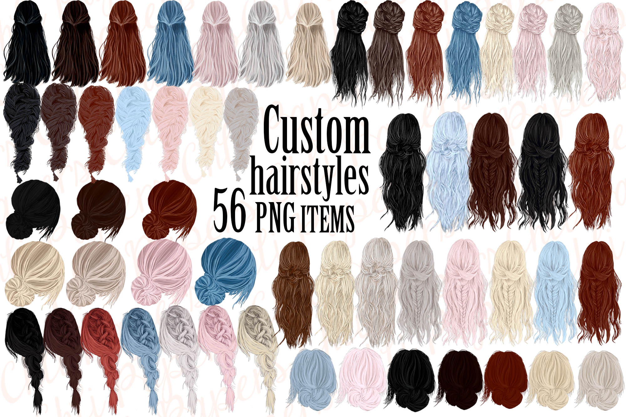 Download Free Custom Hairstyles Clipart Hair Clipart Graphic By Chilipapers SVG Cut Files