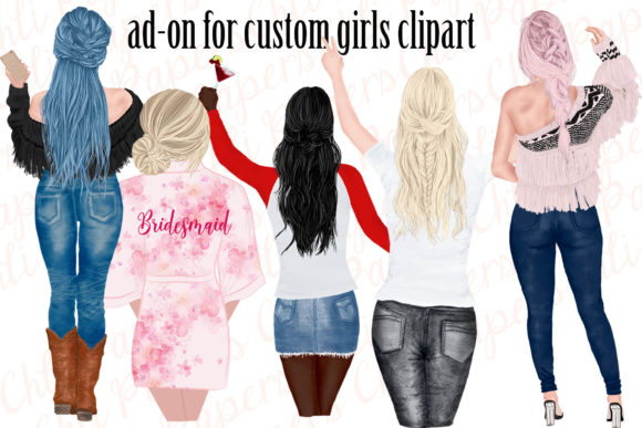 Custom Hairstyles Clipart Hair Clipart Graphic Illustrations By ChiliPapers - Image 3