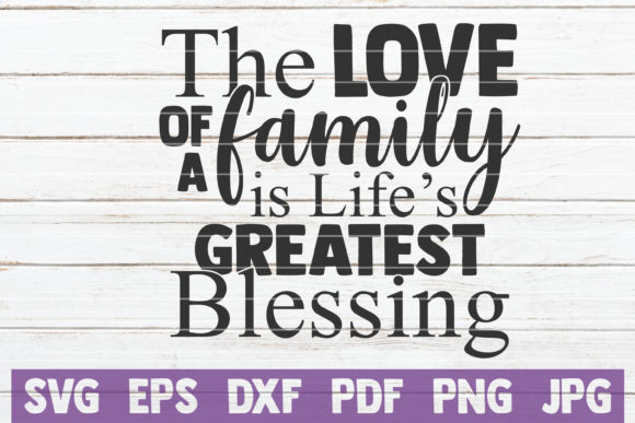 The Love of a Family Graphic Graphic Templates By MintyMarshmallows