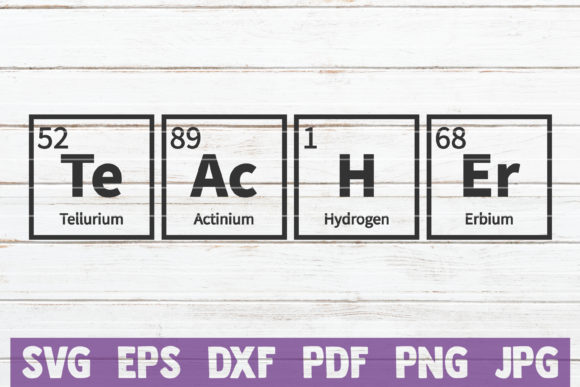 Teacher Periodic Table Graphic Crafts By MintyMarshmallows - Image 1