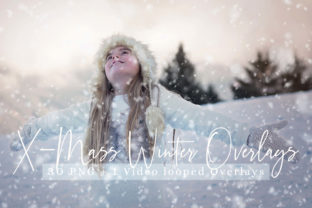 Print on Demand: 31 X-mass Winter Overlays + Video Looped Graphic Photos By 3Motional