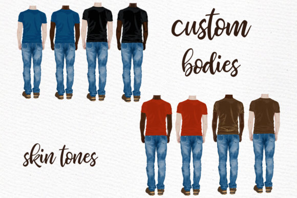 Male Clipart Watercolor Boys Clipart Men Graphic Illustrations By LeCoqDesign - Image 2