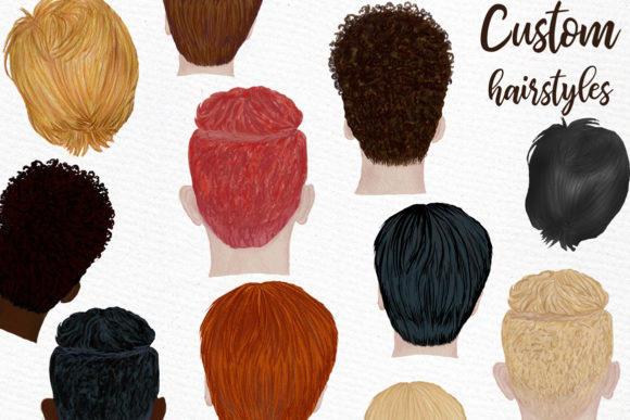 Male Clipart Watercolor Boys Clipart Men Graphic Illustrations By LeCoqDesign - Image 4