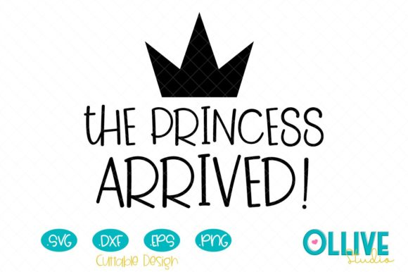 Download Free Newborn The Princess Arrived Graphic By Ollivestudio Creative for Cricut Explore, Silhouette and other cutting machines.