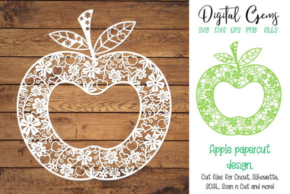 Download Free Apple Paper Cut Design Graphic By Digital Gems Creative Fabrica SVG Cut Files