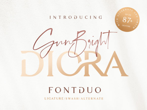 Print on Demand: Diora Duo Script & Handwritten Font By Ratin Creative