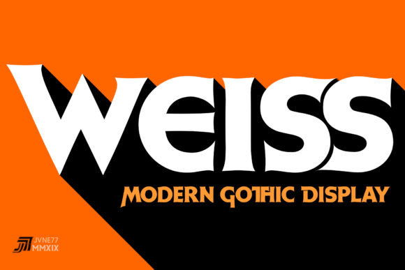 Print on Demand: Weiss Display Font By Jvne77 - Image 2