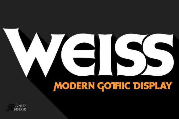 Print on Demand: Weiss Display Font By Jvne77 - Image 1