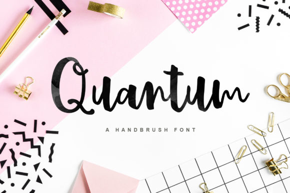 Print on Demand: Quantum Script & Handwritten Font By fargunstudio
