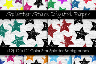 Stars Grunge Pattern Digital Papers Graphic Patterns By GJSArt 1
