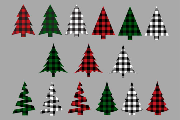Download Free Christmas Tree Buffalo Check Bundle Graphic By Gjsart Creative for Cricut Explore, Silhouette and other cutting machines.